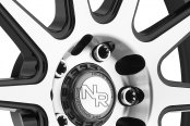 NICHE® - NR10 Racing Series Matte Black with Machined Face Close-Up