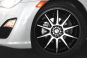 NICHE® - NR10 Racing Series Matte Black with Machined Face on Scion FR-S