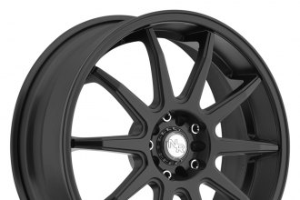 "NICHE® - NR10 Racing Series Matte Black (17"" x 7.5"", +45 Offset, 5x114.3 Bolt Pattern, 72.6mm Hub)"