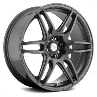 NICHE® - M105 NR6 Gunmetal with Milled Spokes