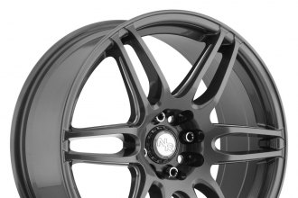 "NICHE® - NR6 Anthracite with Milled Spokes (18"" x 8"", +40 Offset, 5x108 Bolt Pattern, 72.6mm Hub)"