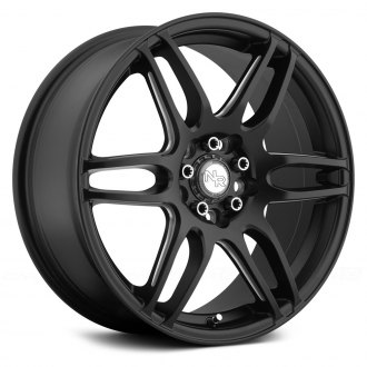 NICHE® - NR6 Matte Black with Milled Spokes