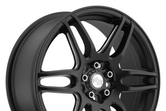 "NICHE® - NR6 Matte Black with Milled Spokes (18"" x 8"", +35 Offset, 5x112 Bolt Pattern, 72.6mm Hub)"