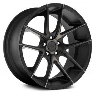 NICHE® - M130 TARGA Black with Machined Face and Double Dark Tint