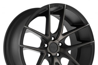 "NICHE® - TARGA Black with Machined Face and Double Dark Tint (18"" x 8"", +40 Offset, 5x100 Bolt Pattern, 66.1mm Hub)"