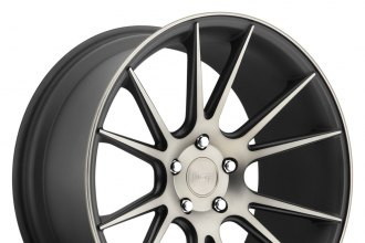 "NICHE® - VICENZA Black with Machined Face and Double Dark Tint (20"" x 10"", +40 Offset, 5x112 Bolt Pattern, 66.6mm Hub)"