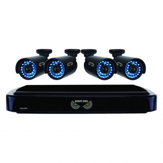 Night Owl® - 4 Channel Smart HD Video Security System With 1 TB HDD and 4 x 720p HD Cameras