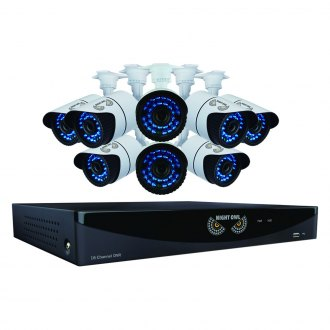 Night Owl® - 16 Channel Video Security System With 8 hi-resolution 900 TVL Bullet Cameras