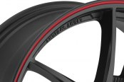 NINJA® - NJ02 Matte Black with Red Pinstripe Close-Up