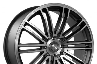 "NINJA® - NJ08 Dark Gray with Machined Face (18"" x 7.5"", +45 Offset, 5x114.3 Bolt Pattern, 73.1mm Hub)"