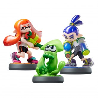 Nintendo® - Wii U Splatoon Series Inkling Girl, Boy, and Squid amiibo Figures