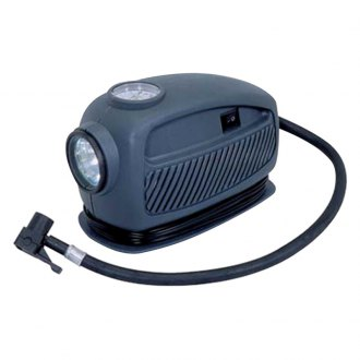 Nippon America® - 3-In-One Air Compressor with Emergency Light and Pressure Gauge
