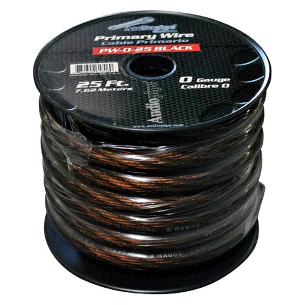 Astounding Audiopipe Pw025Bk 25 1 0 Gauge Black Primary Wire Wiring Digital Resources Sulfshebarightsorg