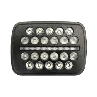 "Nova-Lux® - Black Op's 7x6"" Rectangular Black LED Headlight With Turn Signal/Parking Light"