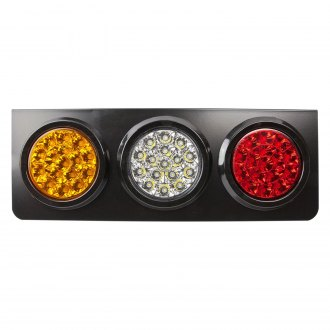Nova-Lux® - Chrome Amber/Red Combination LED Brake Light Kit