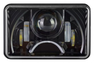 "Nova-Lux® - 4x6"" Rectangular Black Projector LED Headlight with DRL"