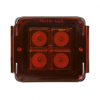 Nova-Lux® - Rectangular Black Fog Light with Yellow Removable Lens