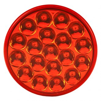 "Nova-Lux® - 4"" Chrome/Red Round Stop LED Tail Light"