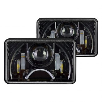 Nova-Lux® - Rectangular Black Full LED Projector Headlights