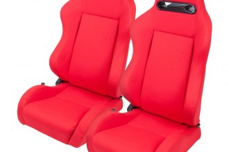 NRG Innovations® - Type-R Series Sport Seats, Red, Fabric