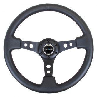 NRG Innovations® - 3-Spoke Reinforced Steering Wheel with Round Holes