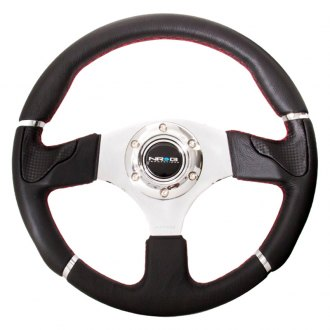 NRG Innovations® - 3-Spoke Evo Style Reinforced Steering Wheel