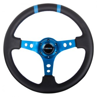 NRG Innovations® -  350mm Race Style Steering Wheel with Double Center Marking