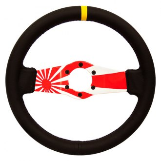 NRG Innovations® - 2-Spoke Japanese Rising Sun Dipped Sport Steering Wheel