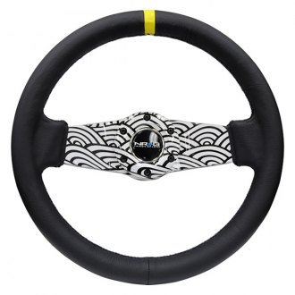 NRG Innovations® - 2-Spoke Japanese Wave Dipped Sport Steering Wheel