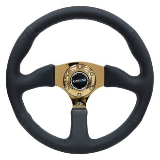 NRG Innovations® - 3-Spoke Reinforced Steering Wheel with Comfort Grip
