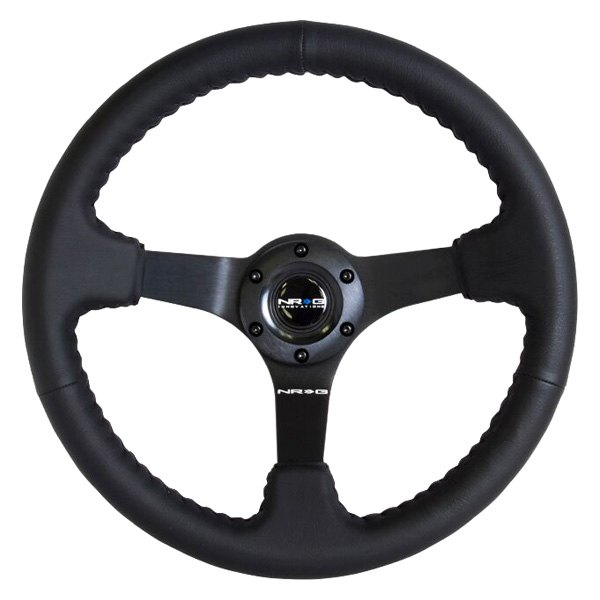 "NRG Innovations® - 3-Spoke ""ODI"" Aurimas Bakchis Inspired Steering Wheel with Steel Spokes"