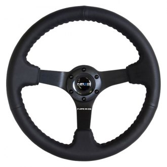 "NRG Innovations® - ""ODI"" Aurimas Bakchis Inspired Race Style Steering Wheel with Baseball Stitching"