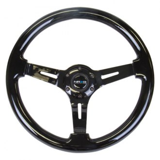 NRG® - 3-Spoke Slotted Design Reinforced Steering Wheel