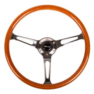 NRG Innovations® - 3-Spoke 360 mm Reinforced Classic Wood Grain Steering Wheel
