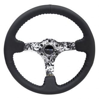 NRG Innovations® - 3-Spoke Reinforced Hydro Dipped Digital Camo Steering Wheel