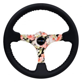NRG Innovations® - 3-Spoke Reinforced Hydro Dipped Tropical Floral Steering Wheel
