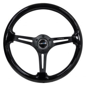 NRG Innovations® - 3-Spoke Reinforced Wood Steering Wheel