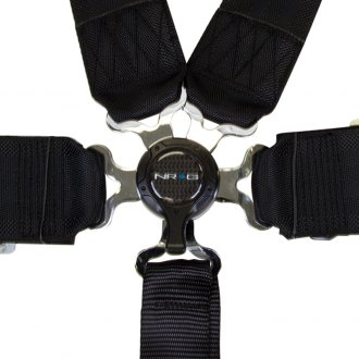 NRG Innovations® - 6 Point Camlock Harness Set, Black