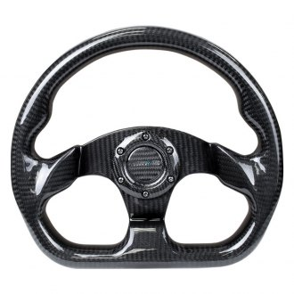 NRG® - 3-Spoke Shinny Black Sport Suede Steering Wheel