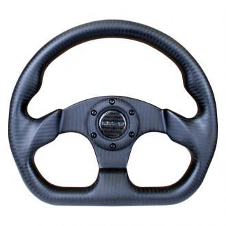 NRG® - 3-Spoke Matte Black Sport Suede Steering Wheel