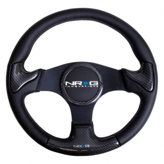 NRG® - 3-Spoke Carbon Fiber Steering Wheel with Black Stitching