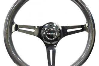 NRG Innovations® - 3-Spoke Chameleon Classic Chameleon Wood Grain Steering Wheel with Black Spokes