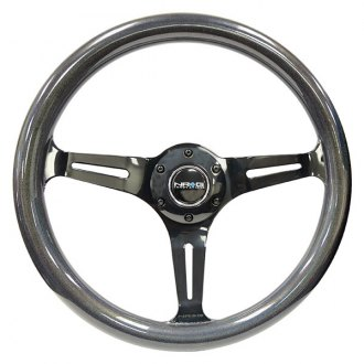 NRG® - 3-Spoke Neon Series Classic Wood Grain Steering Wheel