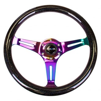 NRG Innovations® - 3-Spoke Galaxy Classic Wood Grain Steering Wheel