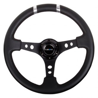 NRG Innovations® -  350mm Sport Steering Wheel with Double Center Marking
