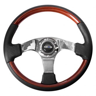NRG® - 3-Spoke Classic Wood Grain Steering Wheel with Wood Accents