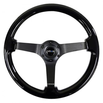 NRG® - 3-Spoke Classic Black Wood Grain Steering Wheel