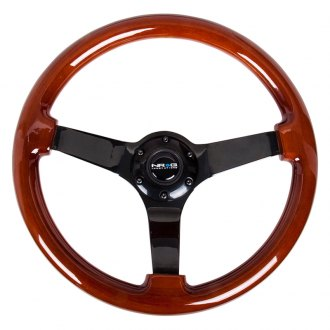 NRG® - 3-Spoke Classic Dark Wood Grain Steering Wheel