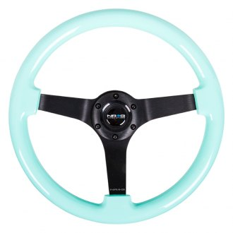 NRG® - 3-Spoke Minty Fresh Wood Grain Steering Wheel