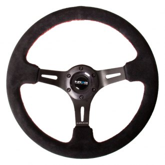 NRG® - 3-Spoke Black Suede Steering Wheel